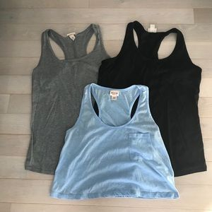 Tank tops 3-pc Set Mossimo Brand Med Blk,Gray,Bl
